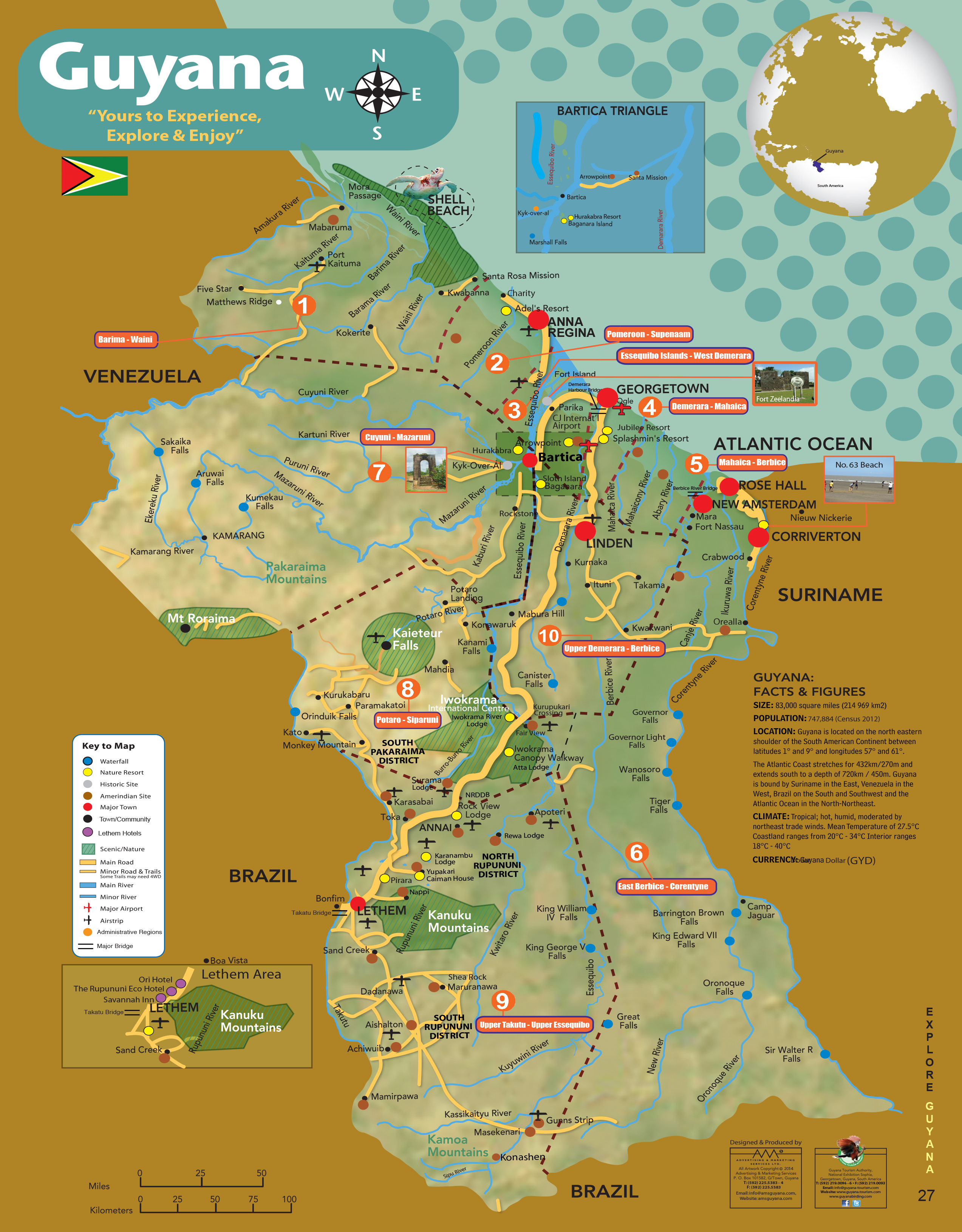 map | Explore Guyana