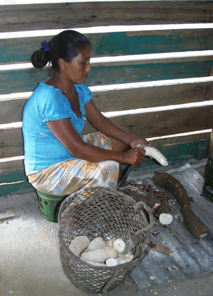 Cassava Peeling